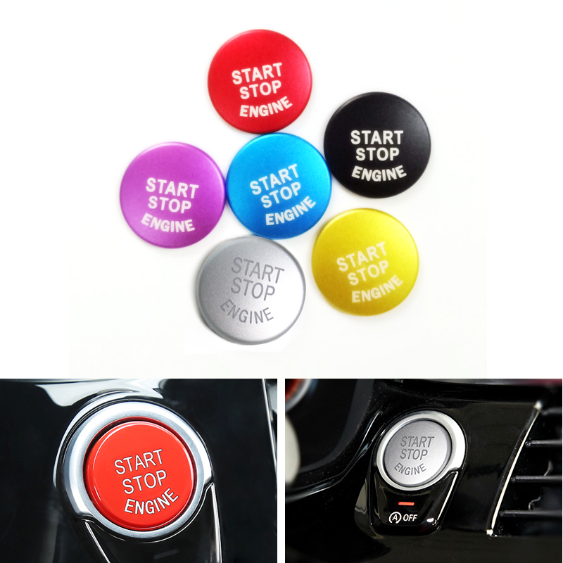 Car Aluminum Alloy Engine Start Stop Button Ring Cover Trim For BMW 1 3 5 Series F Chassis F01 F07 F10 <font><b>F18</b></font> F15 F16 F36 F82 F83 image