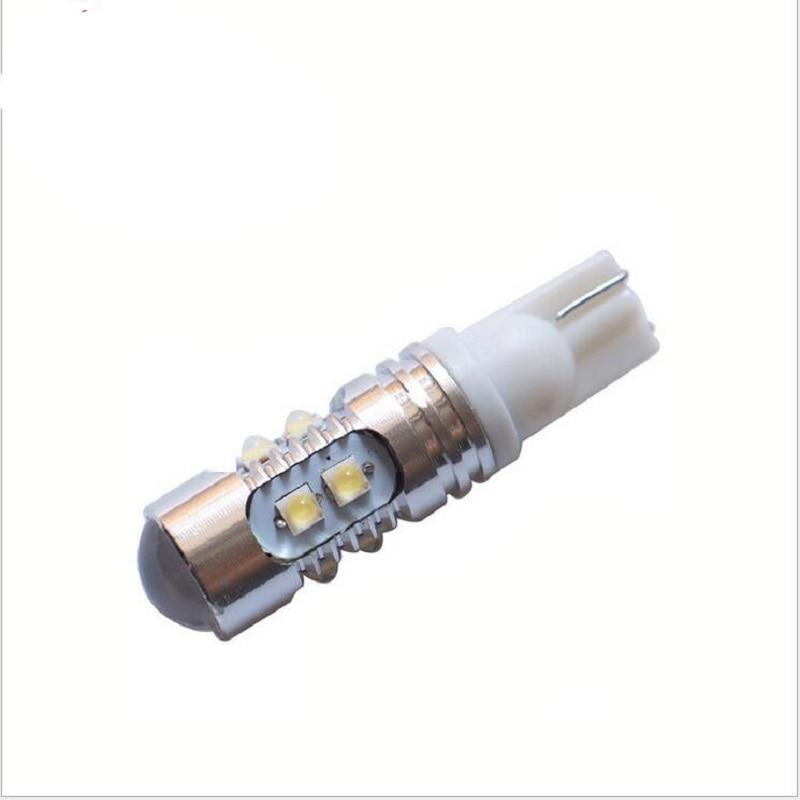 Супер Белый 2шт T10 W5W и Кри Откалывает СИД 50W Ширина ДРЛ внутренних сигнальных огней Лампа 501 светодиод автомобиля лампы свет автомобиля Источник парковка