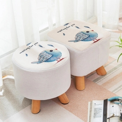 Nordic Small Sofa Stool Fabrics Small Benches Tea Table Stool toughened glass small tea table phone sofa the round table