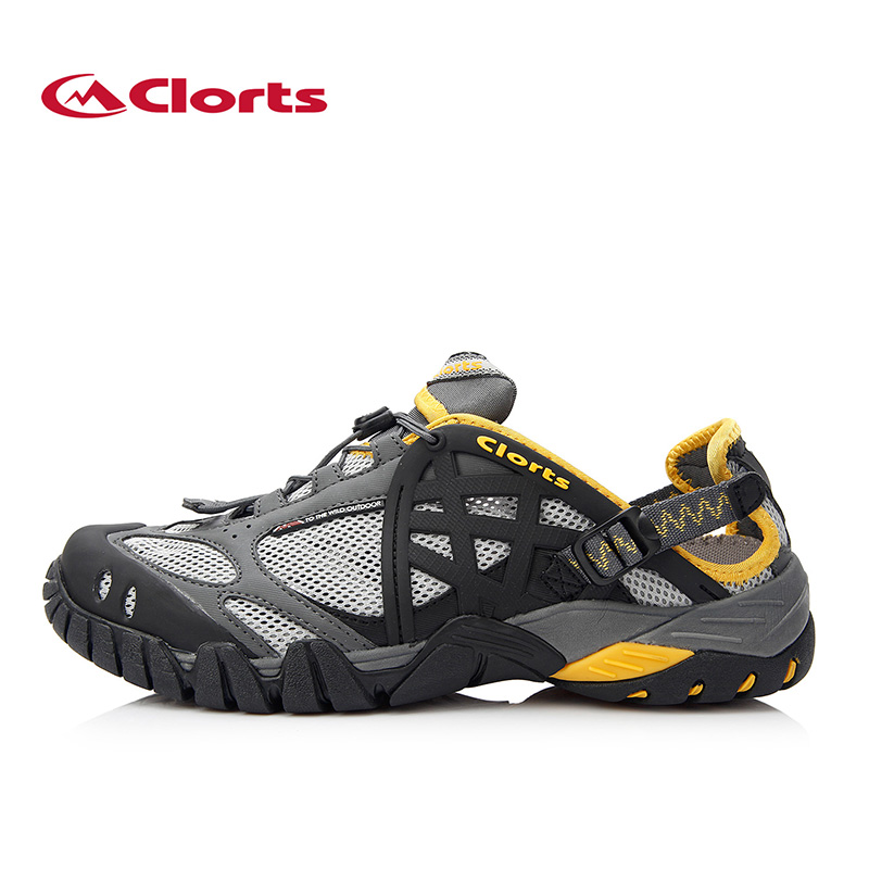 ФОТО 2017 Clorts Men Upstream Shoes Quick-drying Breathbable Outdoor Water Sneakers Anti-slipping Wading Sport Shoes WT-05