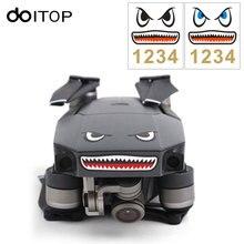 Doitop 2 Sets Cool Shark Cara Drones con cámara pegatina para DJI Mavic pro/Spark drone con batería números pegatina #3
