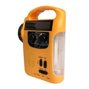 Image 3 - Outdoor Emergency Hand Crank Solar Dynamo AM/FM Radios Power Bank with LED Lamp