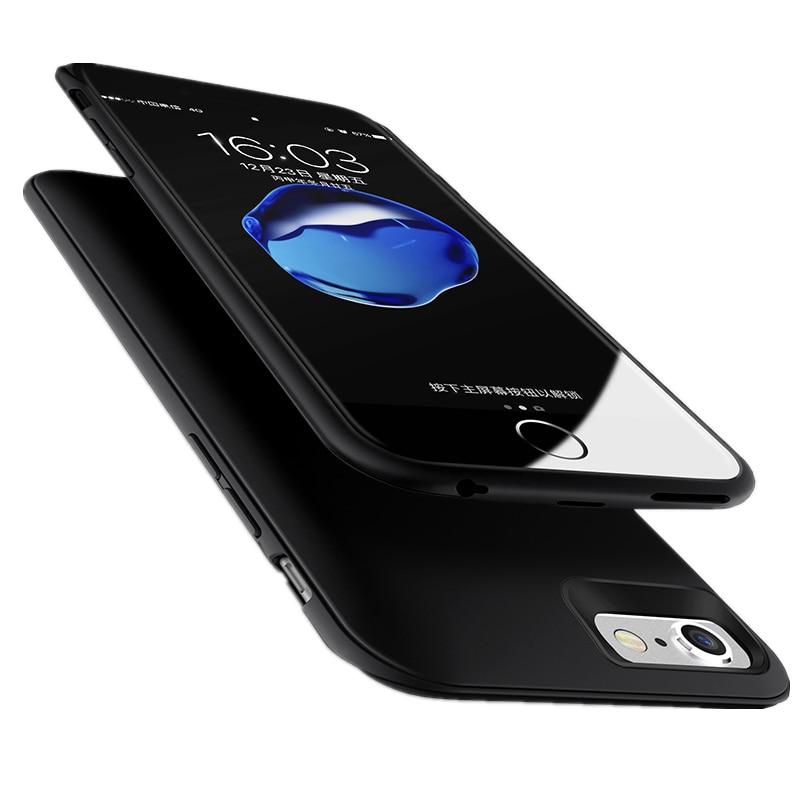 imágenes para SCENEKID Banco de la Energía 7500 mAh Para el iphone 7 más la caja de batería de Copia de seguridad Caso Cala 5200 mAh Cargador externo Para el iphone 7 Caja de Batería