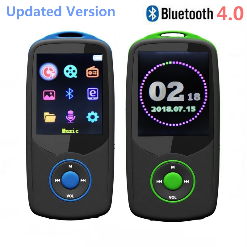 2018 New Original RUIZU X06 Bluetooth MP3 Player 8GB/16GB Colorful Menu High Quality Lossless Music Player with Recorder, FM