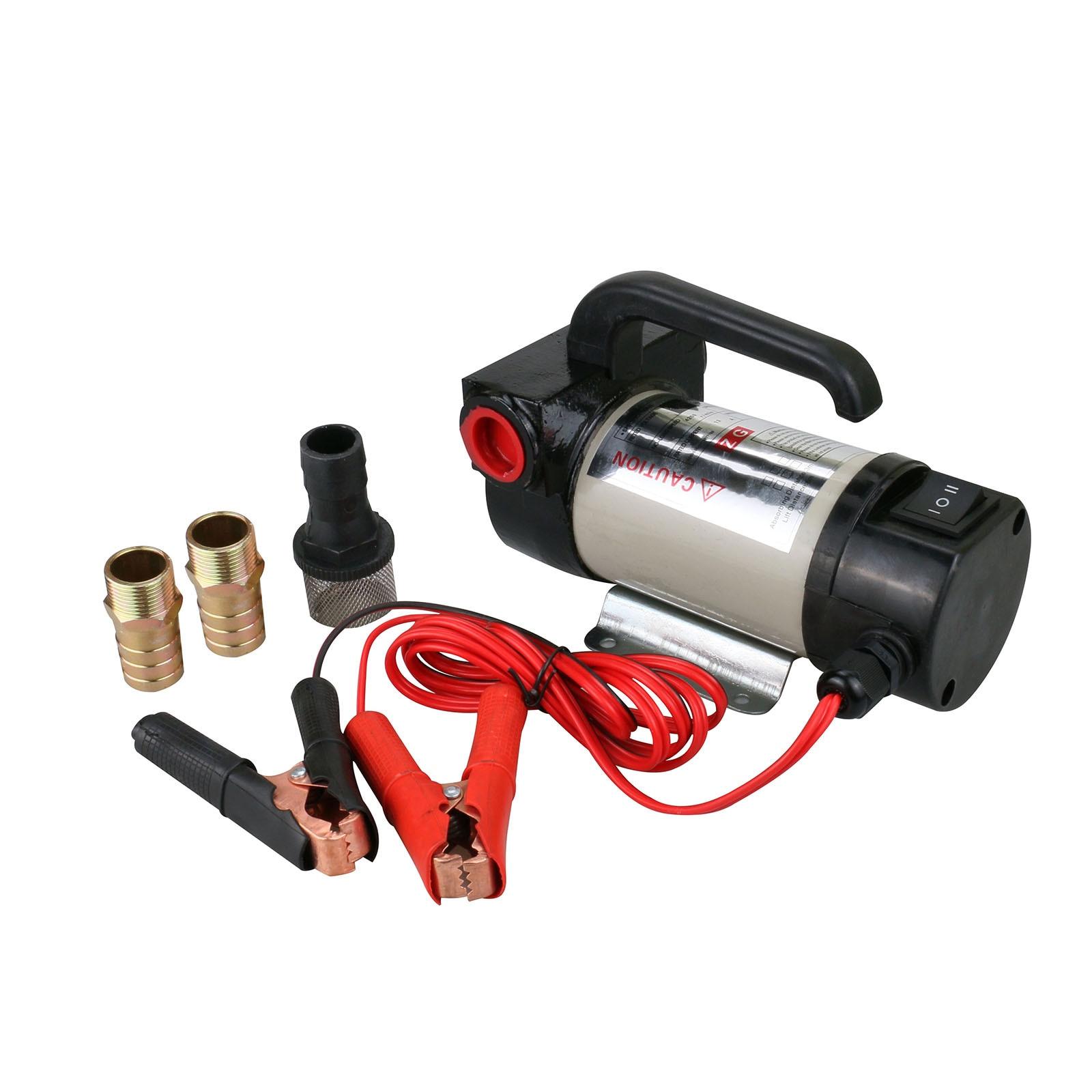 Pompe de transfert de carburant Diesel huile outil électrique Kit de pompe à courant continu pince crocodile 50L/min 24 V DC pour Auto