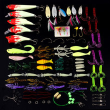 цена 1set/box VIB Minnow Bionic Lure Fishing Bait Soft Bass Bait Rattle Crankbaits Swimbait Jigs Tackel Hook Saltwater Freshwater онлайн в 2017 году