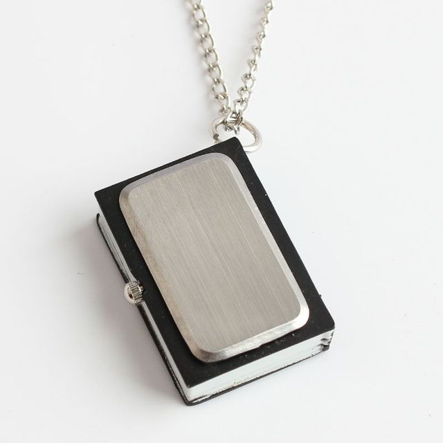 Anime Watch Black Anime Death Note with necklace or keychain Pocket Watch