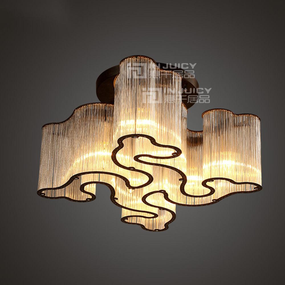 cloud lighting fixtures. modern cloud flush mounted ceiling lamp fixture e14 led iron crystal cafe bar hotel pendant light lighting fixtures e