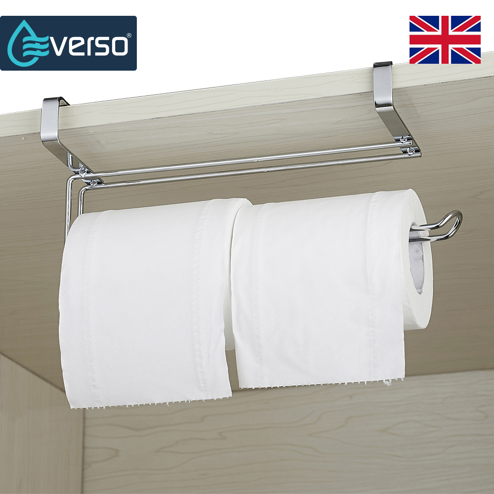 EVERSO Cabinet Bathroom Toilet Paper Roll Holder Towel