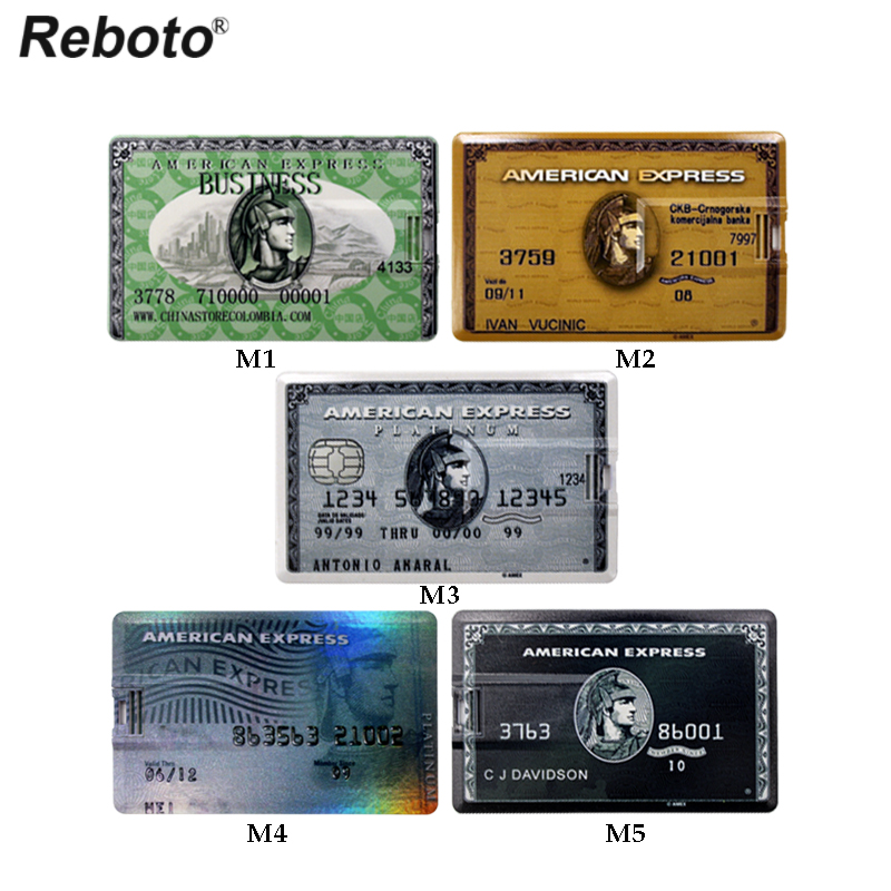 USB Flash Drive 32GB Portable Storage 64GB Pendrive Paper Money Credit Cards Pen Drive 4GB U Disk 8GB 16GB Bank Card Style