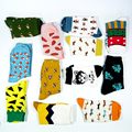 1 pair freeshipping New fashion women men colorful dog cotton socks Spring couple lover Casual Pill Fox neutral red sock Hot