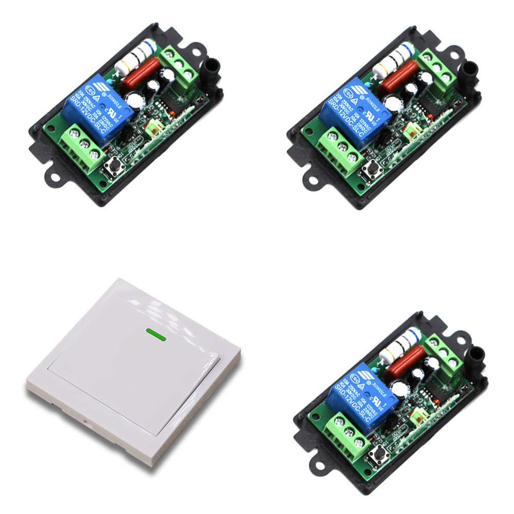 110V Wireless Remote Control Switch Radio Switch 10A 1CH Receiver Relay Wall Transmitter For Light Motor Gate 315/433Mhz ac 220v 10a wireless remote control switch 1ch relay receiver module wall transmitter radio light switch fixed code 315 433mhz