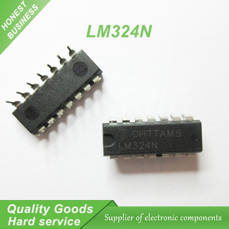 Lm324n Quad Op Amp Integrated Circuit 4 Compensated Op Amps