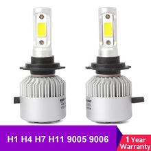 2X H4 LED H7 H11 H8 HB4 H1 H3 HB3 Auto Car Headlight Bulbs 12V 24V 72W 8000LM Styling 6500K Led Automotivo Lamp
