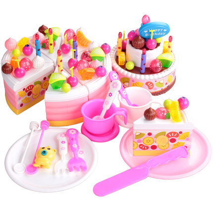 ABSChildren Play House Simulation Playsets Singing Cake Set Girls Birthday Gift In Kitchen Toys From Hobbies On Aliexpress
