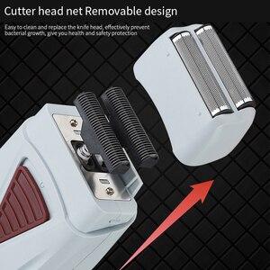 Image 5 - Golarka elektryczna dla mężczyzn Twin Blade profesjonalna akumulatorowa maszynka do golenia Razor USB maszynka do golenia na akumulator trymer fryzjerski