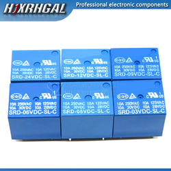 5PCS Relay SRD-03 05 09 06 24 12VDC-SL-C 5PINS 3V 5V 9V 6V 24V 12V new and original hjxrhgal