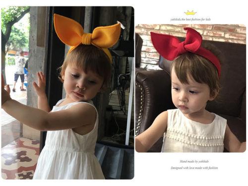 Cute Baby Girls Kids Toddler Bow Hairband Headband Turban Knot Head Wrap
