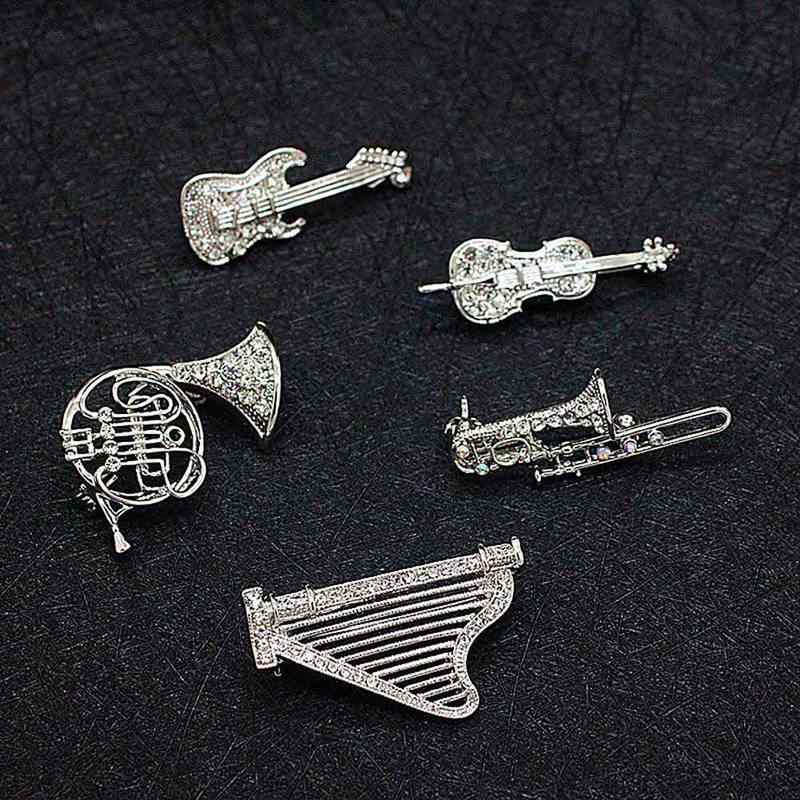 6eade62f9d3 Detail Feedback Questions about Fashion Accessories Silver color Jewelry  Top Grade Multi Musical Instruments Pins And Brooches For Women And Men on  ...