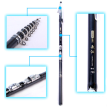 Wholesale prices 3.6m 4.5m 5.4m 6.3m 7.2m Fast Action Rock Sea Fishing Rod Pod Telescopic Carp Feeder Pole Surf Spinning Rod Carbon Pole Olta