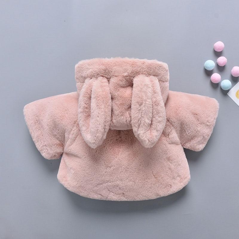 c7da96a3f baby girl winter clothes fleece plush cute bunny cartoon suit parka ...