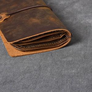 Image 4 - Aetoo Multifunctionele Crazy Horse Lederen Heren Clutch Retro Lederen Telefoon Tas Lederen Clutch Kit