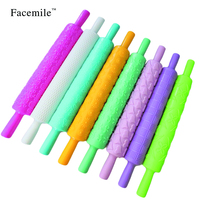 8pcs/set Plastic Embossed Textured Patterned Fondant Rolling Pins Cake decorating Baking Tools plastic pastry roller 53022
