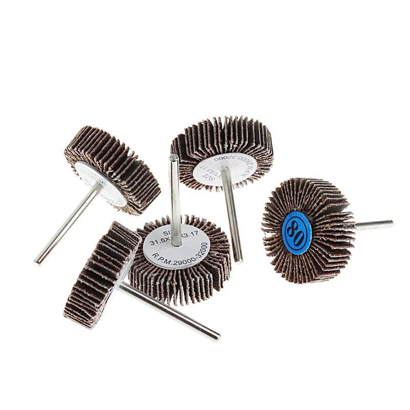 5Pcs Sandpaper Flap Polishing Sanding Disc Wheel For Rotary Tools Shutter Power