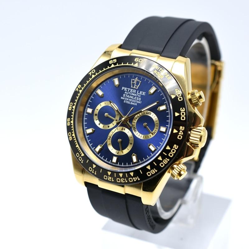 HTB1jiowanlYBeNjSszcq6zwhFXaB Automatic Watch | PETER LEE Watches | 41mm Silicone Military Chronograph Automatic Mechanical Men Watch Sport Clocks Mens Watch Top Brand Luxury Gift