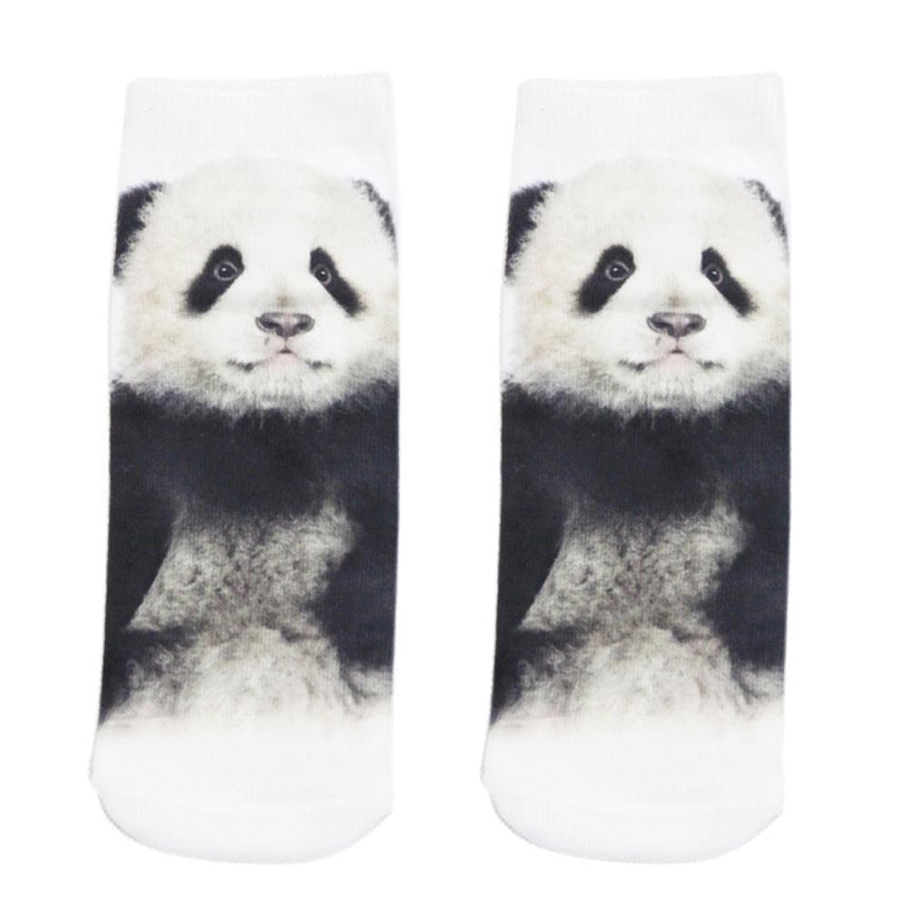 Más nuevo 1 par moda hombres mujeres casual Low Cut tobillo Calcetines  algodón 3D impreso animales 124d21264ca