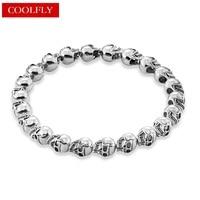 Thomas Style Silver Skull Beads Mens Bracelets 2017 Rebel And Heart Vintage Partner In Crime Friendship
