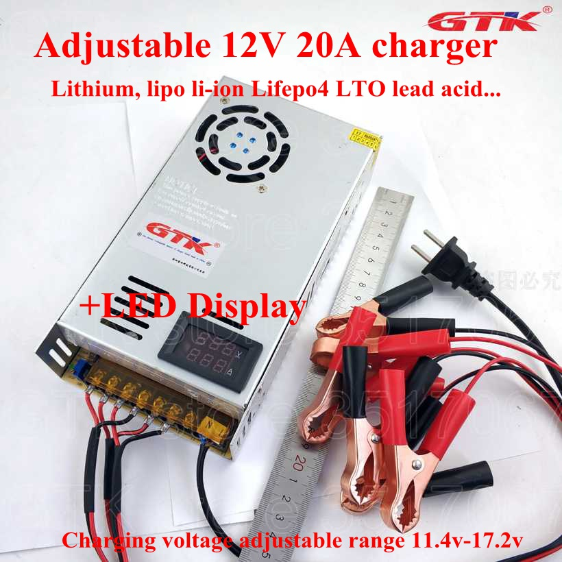 Adjustable 12.6v 14v 14.4v 14.6v 16.8v 17v 12v 20a Lithium Li-ion Lipo Lto Lifepo4 Fast Charger Adjust Input Us 110v Eu 220v Careful Calculation And Strict Budgeting Consumer Electronics Accessories & Parts