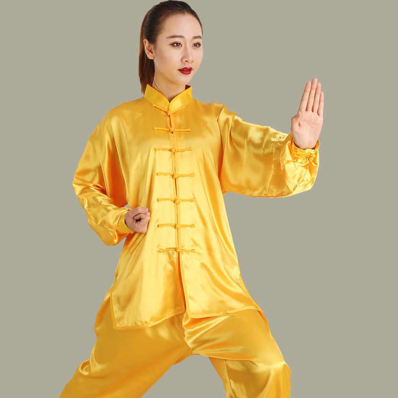 Slik 女性中国カンフー制服女性運動朝太極拳の制服ウー Shu 武道服詠春トレーニング布