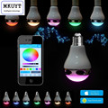 Smart Bluetooth Control Music Audio Speaker LED RGB Color Bulb Light Lamp (E27 Lamp Socket)