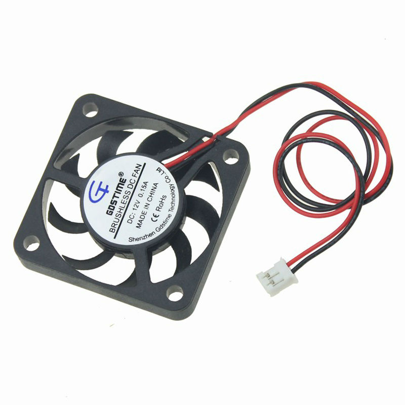 5Pcs Gdstime 12V Fan 40mm 40x40x7mm 2Pin Computer PC Heatsink Cooler Cooling Fans computer cooler radiator with heatsink heatpipe cooling fan for hd6970 hd6950 grahics card vga cooler