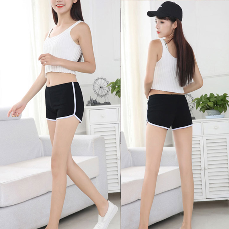 Fashion 1PC New Hot Sale Summer 11Colors Free Size Elastic Waist Mid Waist Solid Soft Casual Female Shorts in Shorts from Women 39 s Clothing