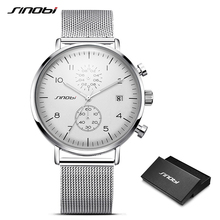SINOBI New Ultra-Thin Chronograph Watches Men's Wat