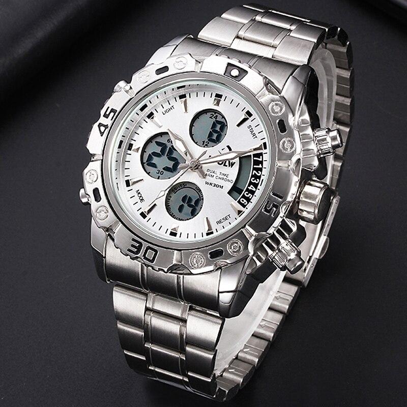 HPOLW Brand Military Sports Watches Men Electronic LED Digital Wrist Watch Waterproof Sport Shock Watch Men Relogio Masculino