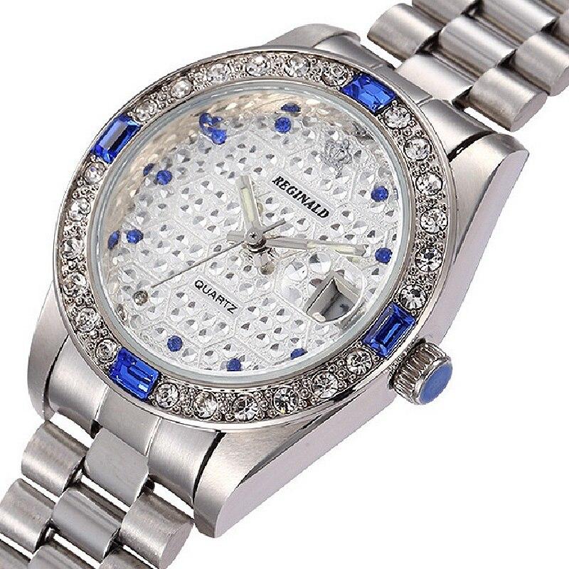 Kwaliteit REGINALD Merk Horloges Dames Top Luxe Vol Staal Diamanten - Dameshorloges - Foto 3