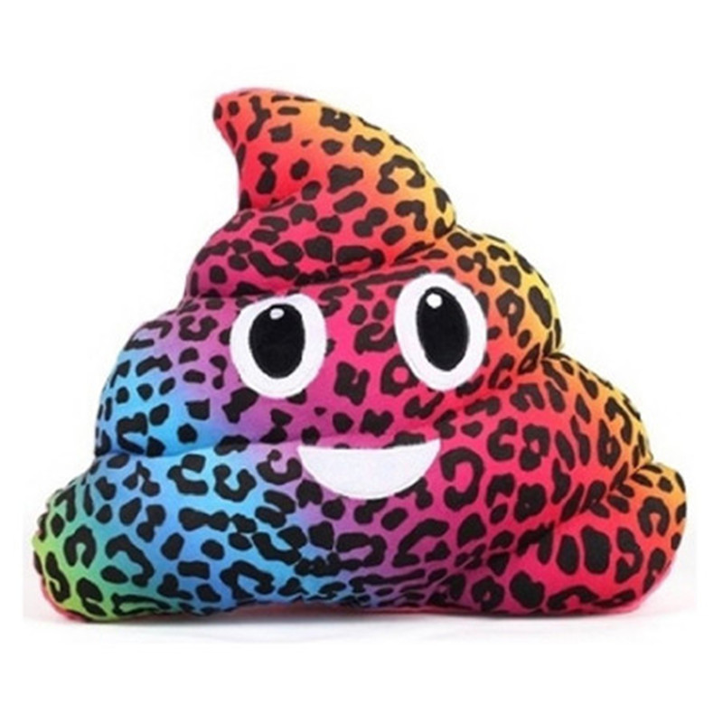 2017 Smile color dots Amusing Emoji Emoticon Cushion Heart Eyes Poo Shape Pillow Doll Toy Gift camouflage design drop shipping