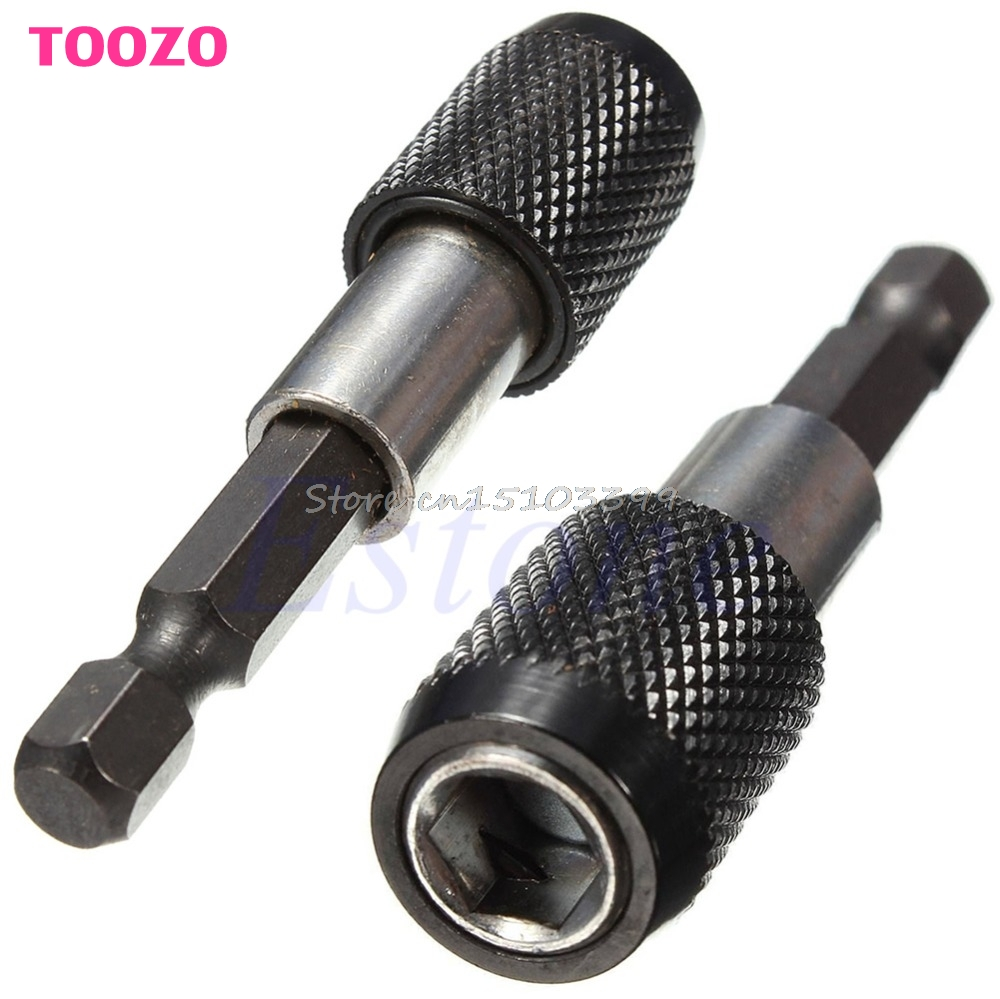 60mm Quick Release Hex Shank Drill Screw Magnetic Screwdriver Bit Holder 1/4 #G205M# Best Quality flex flexible bendable extended magnetic shaft screwdriver bit holder 1 4 hex drive drill bit extension rod with keyless chuck