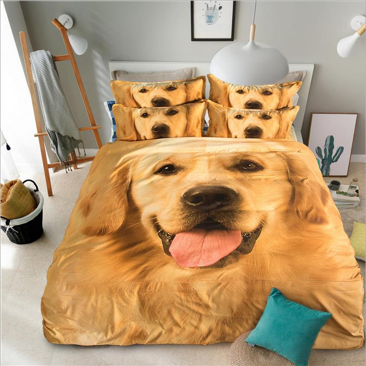 3d Bedding Sets Pet Dog Printed Twin Queen King Size 3/4pcs Bed Set Bedclothes Bed Linen Bed Sheet Duvet Cover Set