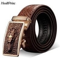 Hot Sale Men Belts Luxury Genuine Leather Crocodile Designer Automatic Belt Man Buckle Real Cow Skin