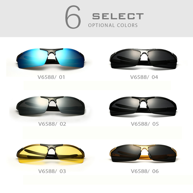VEITHDIA Aluminum Magnesium Men's Sunglasses Polarized Coating Mirror Sun Glasses oculos Male Eyewear