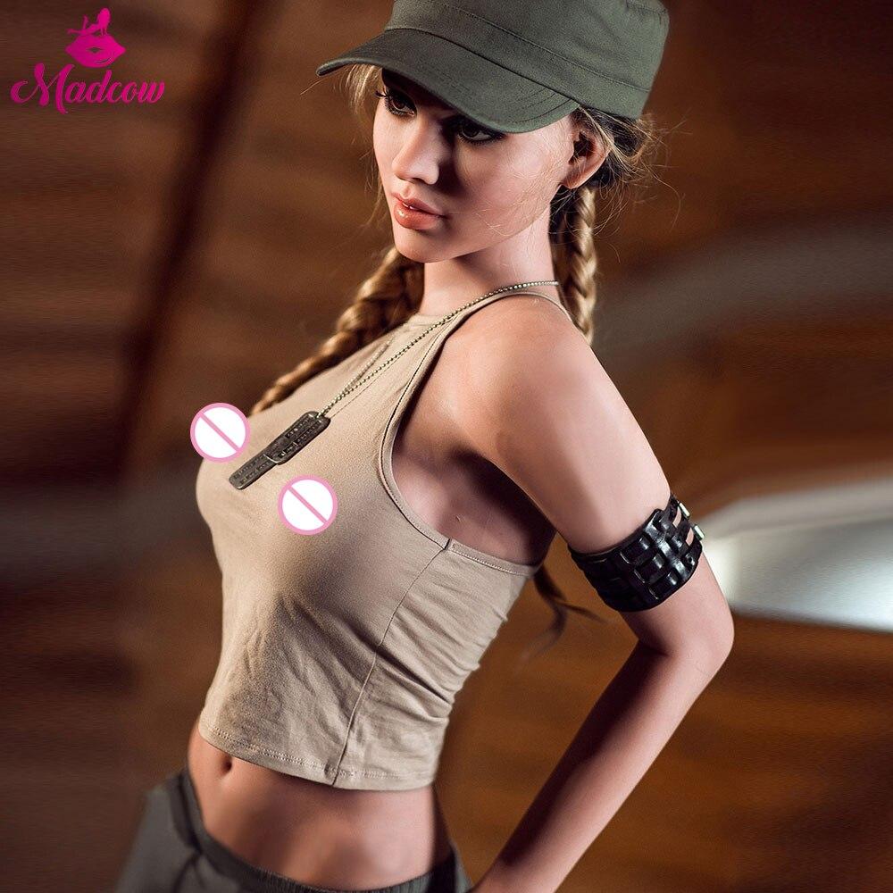166 cm vraie silicone sexe poupées femme soldat adulte anime plein oral amour réaliste jouets sein sexy vagin anus