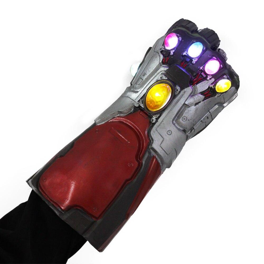 Купить с кэшбэком Iron Man Hulk Gauntlet LED Form Endgame PVC One Size Fit Most Adult Cosplay Party