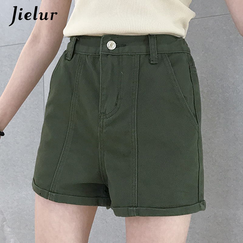 Jielur Women Shorts Street High-Waist Korean-Style Femme Summer New S-5XL Solid