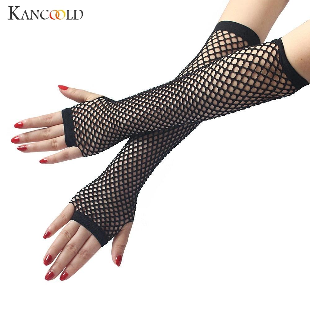 KANCOOLD Gloves Ladies Girls Neon Sexy Long Fingerless Fishnet Lace High Elasticity Gloves High Quality Gloves Women 2018NOV29