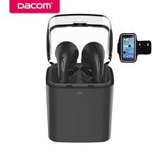 Cheap price Dacom GF7tws-bluk smart bluetooth earphone wireless stereo earbuds hands-free phone earpiece headset for iPhone 8 samsung phone
