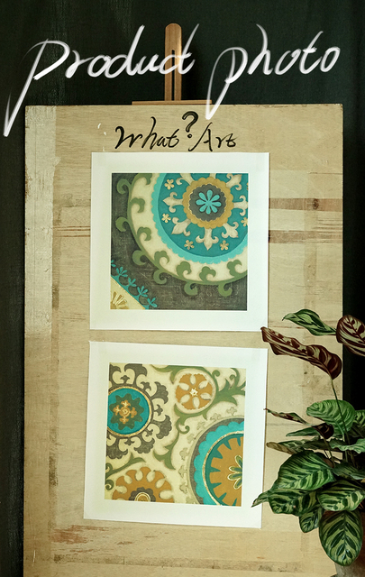 4 Piece Canvas Art Modern Moroccan Decorative Motifs Pictures Painting Posters Prints